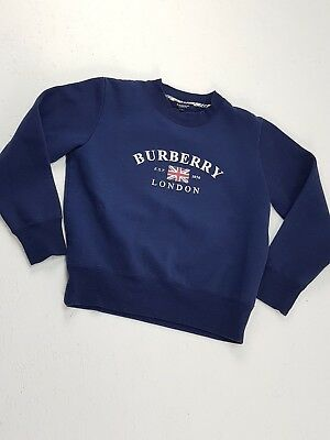 FELPA BURBERRY LONDON British Casual England Flag Sweatshirt Colore Blu Taglia M