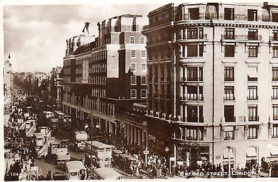 London UK  1939 Oxford Street Excel Series Post Card Real Photograph PPC AK