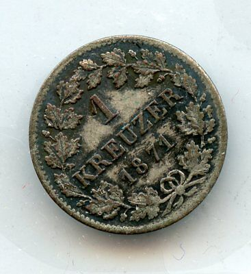 GERMANY-BAVARIA 1871 1 K ~  BOUGHT IN 1965 ! *hucky*