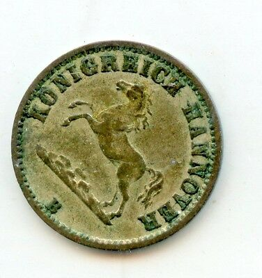 GERMANY-HANOVER 1858 B 1/2 GROSCHEN, VERY ORIGINAL  ~  BOUGHT IN 1965 ! *hucky*