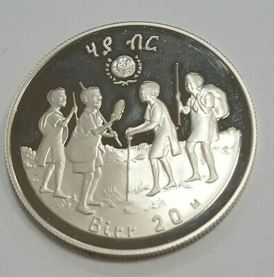 "Ethiopia ""year Of The Child"" .999 Silver Coin"