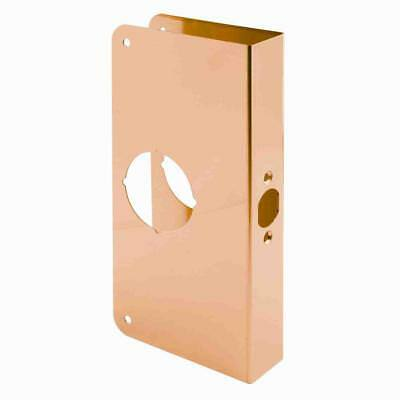 "Door Reinforcer Solid Brass Defender Security U-9547 Non-Recessed 1-3/8"" Thick"