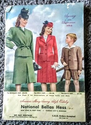 Vintage 1946 National Bellas Hess Catalog Spring and Summer 174 pages