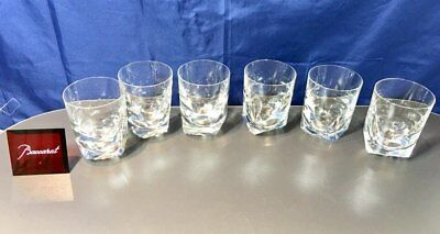 Baccarat Crystal Vertige Barware Whisky glasses 702242 Limited Edition NEW
