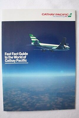 Cathay Pacific Fast Fact Guide To The World Of Cathay Pacific Brochure From 1984