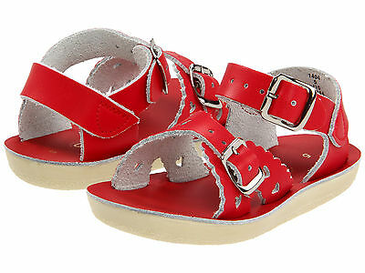 NEW INFANT TODDLER SALT WATER SANDAL SWEETHEART 1412 SILVER SUN-SAN BY HOY SHOES