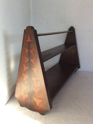 Antique C.1900 Mahogany table top marquetry book case / shelf