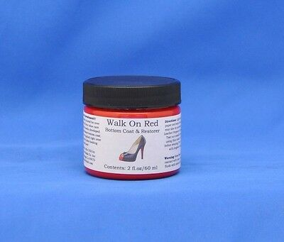 Angelus Walk On Red Louboutin Sole Restorer, Bottom Coat Touch Up Paint- 2oz NEW