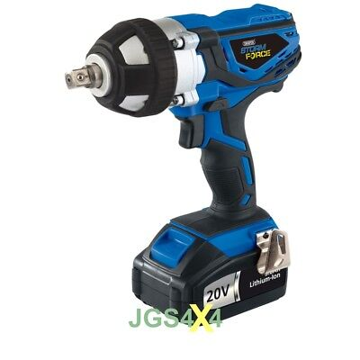 Storm Force Cordless Impact Wrench With 2 20V Li-Ion 3Ah Batteries DRAPER 82983