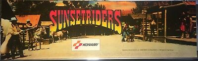 "Sunset Riders Arcade Marquee 27"" x 8"""