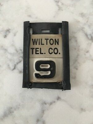 Pole Tag Wilton Telephone Company NH