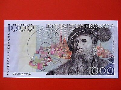 SWEDEN 1990  1000 KRONOR  P.60a  XF+