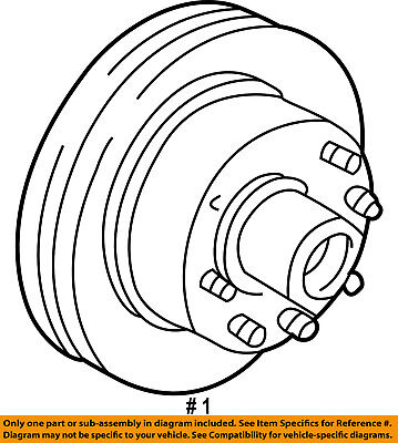 New Genuine Oem Ford F37z 1102 B Front Disc Brake Rotor 4wd Only
