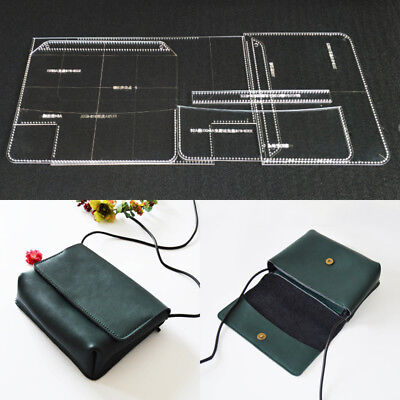 Shoulder Bag Acrylic DIY Template Pattern Leather Craft Stencil Tool
