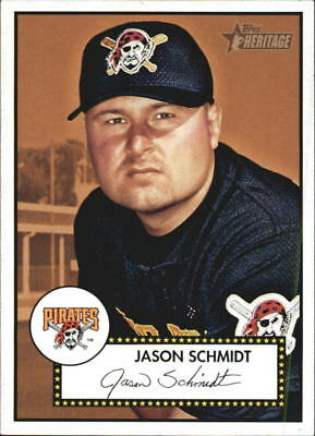 2001 Topps Heritage Baseball #333 Jason Schmidt SP Pittsburgh Pirates