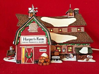 Harpers Farm Dept 56 New England Village 56605 Christmas accessory snow retired