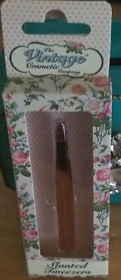 The Vintage Cosmetic Company Slanted Tweezers - Rose Gold. Brand New!