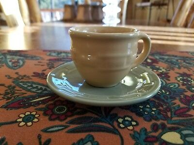 """Longaberger Woven Traditions Pottery Child""""s Tea Cup and Saucer"""