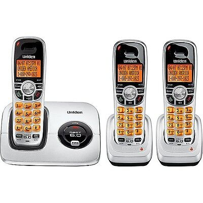 UNIDEN 2015+2 DECT 6.0 DIGITAL CORDLESS PHONE HOME / OFFICE WiFi LCD 3 HANDSETS