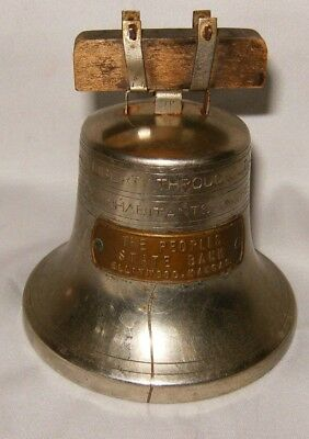 Vintage/Antique Liberty Bell Bank Ellinwood, Kansas