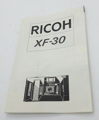 Vintage RICOH XF-30 Wide compact film Camera INSTRUCTION MANUAL