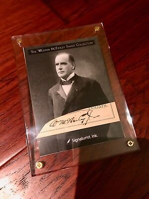WILLIAM McKINLEY * AUTOGRAPH Cut Signed  * McKinley Family Collection COA