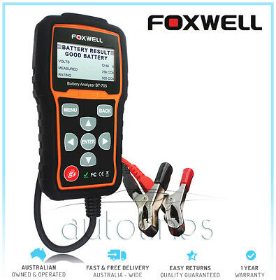 Foxwell BT705 12V 24V Auto Battery Tester Analyser Flooded AGM GEL