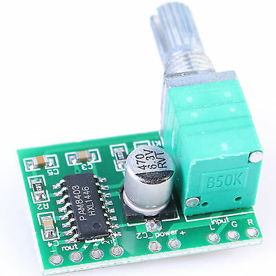1pcs 3W 5V DC PAM8403 Audio Amplifier Board 2 Channel 2 Volume Control USB Power