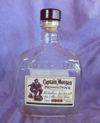 Captain Morgan Private Stock Bottle Empty Collectible Upcycle Crafts 750ML