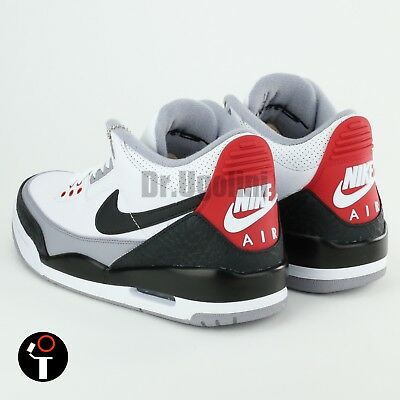 e60dafde18f3 NIKE AIR JORDAN 3 Retro NRG Tinker White Fire Red Cement Grey Black ...