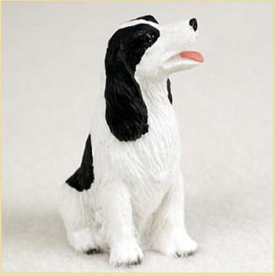 SPRINGER SPANIEL (BLACK WHITE) TINY ONES DOG Figurine Statue Pet Lovers Resin