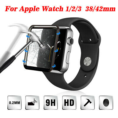 For Apple Watch Series 3/2/1 3D Full Edge Tempered Glass Screen Protector 38/42