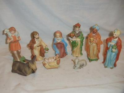 9 Pc Nativity Set Large Homco Home Interiors With Manger Picclick