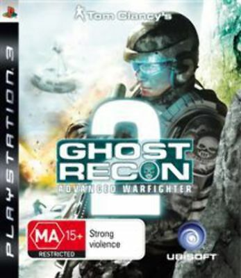 Tom Clancys Ghost Recon Advanced Warfighter 2 PS3 Game USED