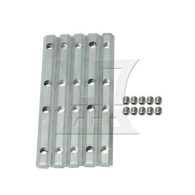10x1cm 2020 Series Straight Inside Connector Fastener Set of 5 Silver