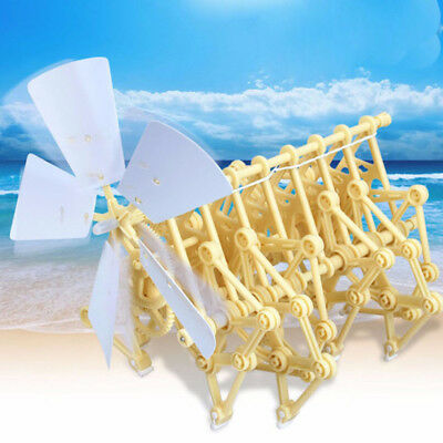 Funny Wind Powered Walker Beast Strandbeest Robot Assembly Powerful Model Toy
