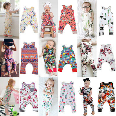 UK SELLER Newborn Infant Baby Boy Girl Bodysuit Romper Jumpsuit Outfits Clothes
