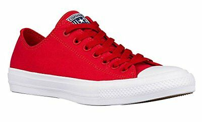 d6d0596b7a26f4 Converse Mens Chuck Taylor All Star II OX Casual Shoes Salsa Red White