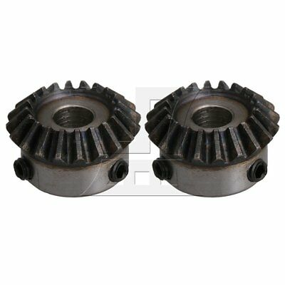 20Teeth 1.25 Module Tapered Bevel Gear Wheel 8mm Bore Set of 2