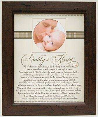 The Grandparent Gift Co. Heart Collection 8x10 Frame, Daddy's Heart