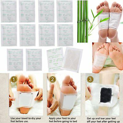 10/100PCS Detox Foot Pads Patch Detoxify Toxins Adhesive Keeping Fit Health Care