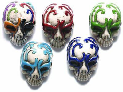 Shipwreck Beads 30 by 21mm Peruvian Hand Crafted Ceramic Skull Beads with Mask ,