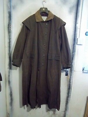 Barbour Backhouse Waxed Riding Hunting Duster Jacket Size Xxl