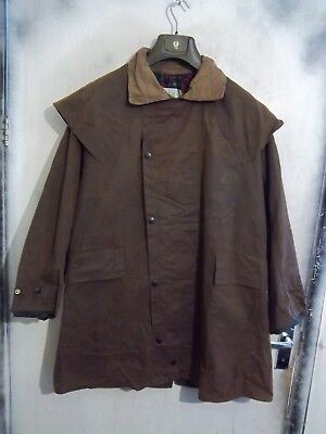 Barbour Backhouse Waxed Riding Hunting Duster Jacket Size C40 102Cm