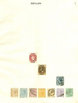Ceylon collection 1863-1949. Mint & used on 8 album pages. Nice clean lot...