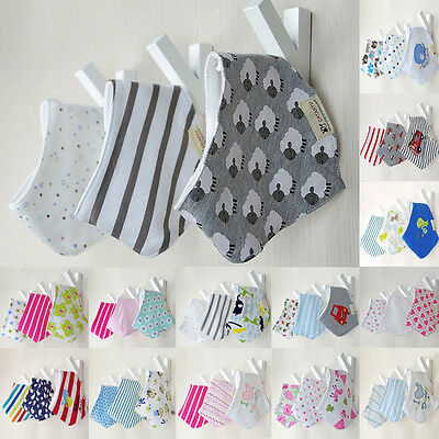 3PCS / Set Infant Baby Kid Boy Girl Bandana Bibs Head Scarf Saliva Towel Dribble