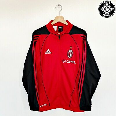 AC MILAN Adidas Vintage Retro Football Jacket Track Top 1998/00 (M) MALDINI