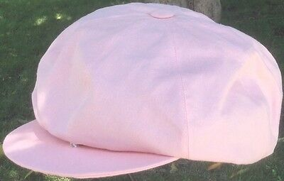 654a8780 ANTHONY PETO FRANCE 8/4 PINK 100% Linen Peaky Blinders BAKERS BOY CAP XL