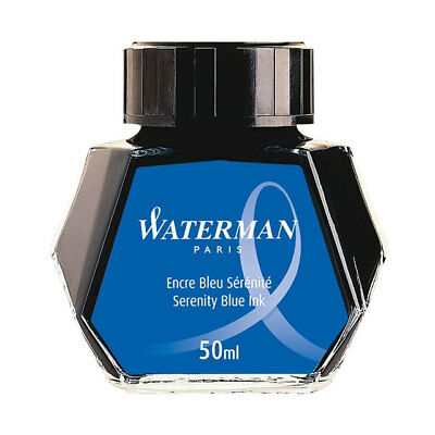Waterman Bottle of Serenity Blue Ink (previously Florida Blue)