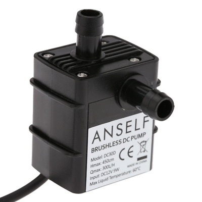 Anself Acqua Olio Pompa Mini DC12V 9W Micro Brushless Impermeabile Sommergibile